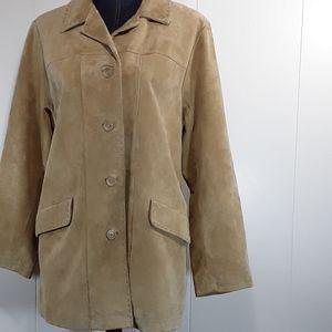 Eddie Bauer Seattle suede, soft leather jacket